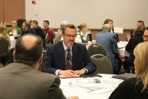 WEDC Market Development Director Brad Schneider takes part in the Export Café session at the Wisconsin International Trade Conference.