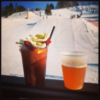 Bloody Marys and Skiing
