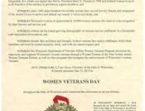 Governor proclaims June 12 Women Veterans Day in Wisconsin